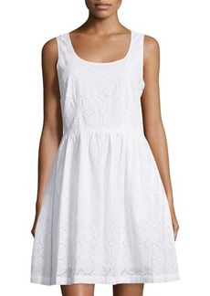 MICHAEL Michael Kors Eyelet Lace Scoop-Neck Dress