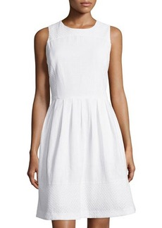 MICHAEL Michael Kors Eyelet Sleeveless Fit & Flare Dress W/Pockets