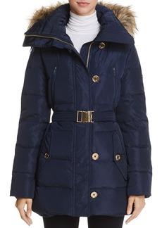 MICHAEL Michael Kors Faux Fur Belted Puffer Coat
