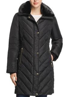 MICHAEL Michael Kors Faux Fur Collar Puffer Coat