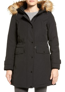 MICHAEL Michael Kors Faux Fur Trim Down & Feather Fill Parka