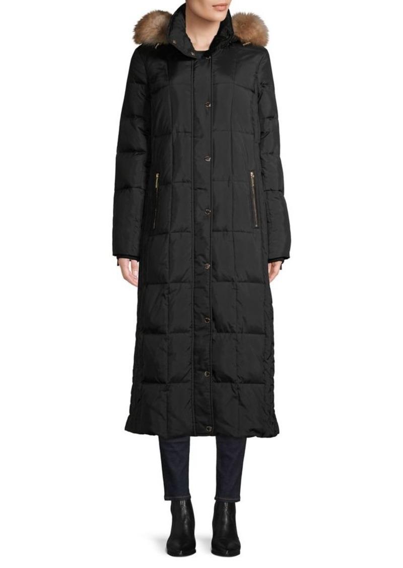 MICHAEL Michael Kors Faux Fur-Trim Quilted Coat