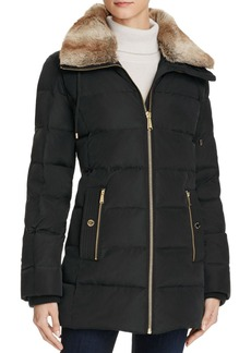 MICHAEL Michael Kors Faux Fur-Trimmed Coat