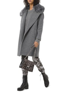 MICHAEL Michael Kors Faux-Fur Trimmed Wool-Blend Coat