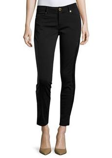 MICHAEL Michael Kors Faux-Leather Panel Moto Skinny Pants