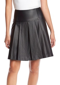 MICHAEL Michael Kors® Faux Leather Pleated Skirt