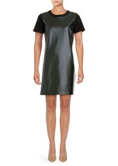 MICHAEL MICHAEL KORS Faux Leather Sheath Dress