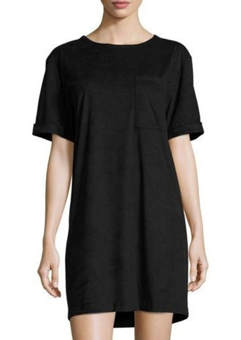 MICHAEL Michael Kors Faux-Suede Boxy T-Shirt Dress