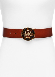 MICHAEL Michael Kors Faux-Tortoise Inlay Plaque Belt