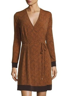 MICHAEL Michael Kors Faux-Wrap Long-Sleeve Dress