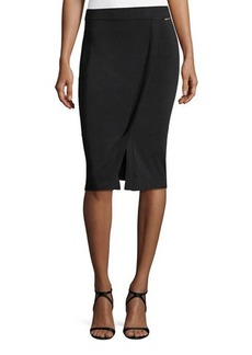 MICHAEL Michael Kors Faux-Wrap Pencil Skirt