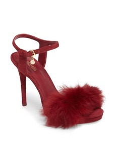 MICHAEL Michael Kors Faye Genuine Rabbit Fur Sandal (Women)