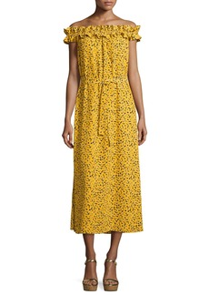 MICHAEL Michael Kors Finley Off-the-Shoulder Printed Maxi Dress
