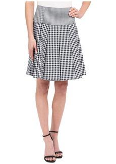 MICHAEL Michael Kors Fit Flare Pleat Skirt