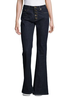 MICHAEL MICHAEL KORS Flared Button-Fly Denim Jeans