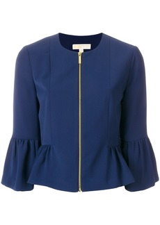 Michael Michael Kors flared cuff jacket - Blue