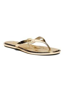 MICHAEL Michael Kors Flip Flop Sandals - Emory Metallic Charm