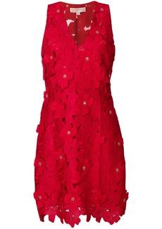 Michael Michael Kors floral appliqué lace dress - Red