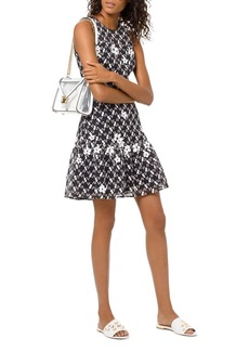 MICHAEL Michael Kors Floral-Appliqu� Mesh Dress