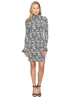 MICHAEL Michael Kors Floral Bell Sleeve Long Sleeve Dress
