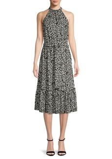 MICHAEL Michael Kors Floral Belted A-Line Dress