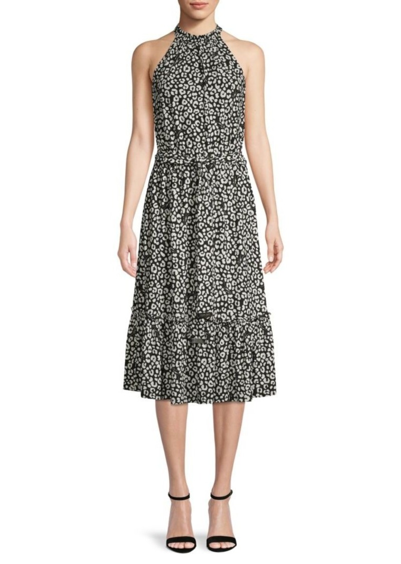 MICHAEL Michael Kors Floral Belted A-Line Dress
