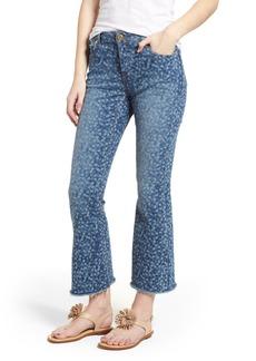 MICHAEL Michael Kors Floral Crop Flare Jeans