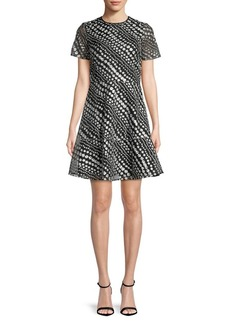 MICHAEL MICHAEL KORS Floral-Embroidered Fit-&-Flare Dress