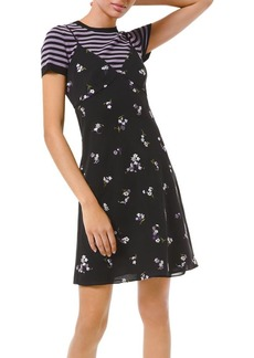 MICHAEL Michael Kors Floral Embroidered Slip Dress