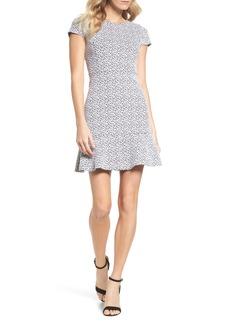 MICHAEL Michael Kors Floral Knit Jacquard Flounce Dress