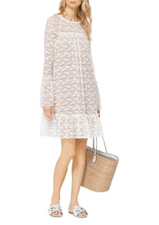 MICHAEL Michael Kors Floral Lace Bell Sleeve Dress