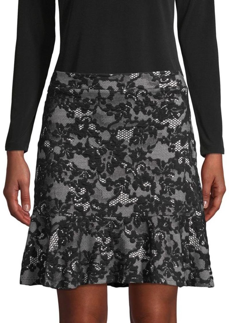 MICHAEL Michael Kors Floral-Lace Skirt