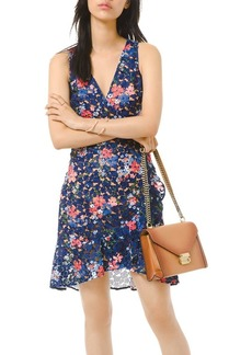 MICHAEL Michael Kors Floral-Lace Sleeveless Mini Dress