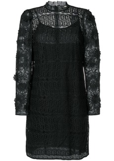 Michael Michael Kors floral mesh lace dress - Black