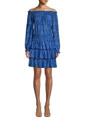 MICHAEL Michael Kors Floral Off-the-Shoulder Smocked Dress