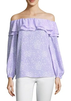 MICHAEL Michael Kors Floral Off-The-Shoulder Top