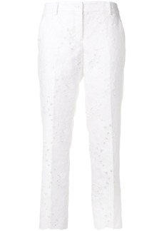 Michael Michael Kors floral-pattern cropped trousers - White