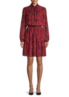MICHAEL Michael Kors Floral-Print Blouson Dress