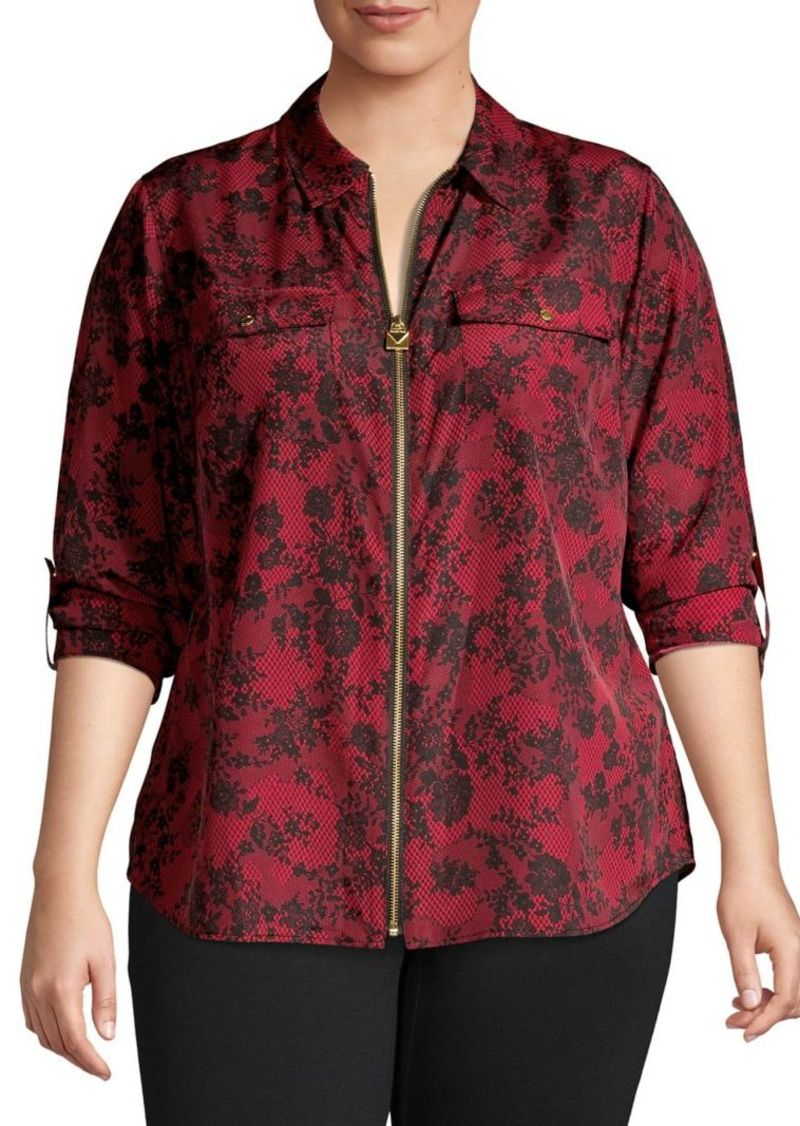 MICHAEL Michael Kors Plus Floral-Print Top