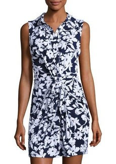 MICHAEL Michael Kors Floral-Print Twist-Tie Dress