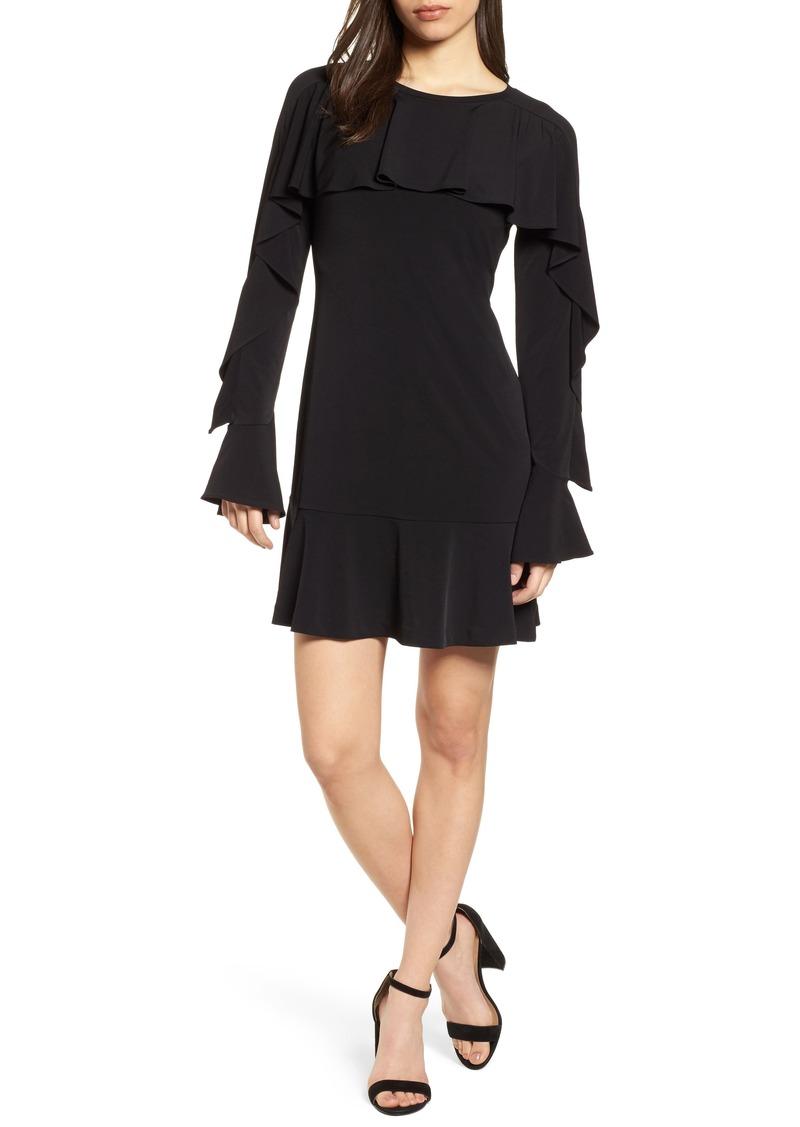 MICHAEL Michael Kors Flounce Panel Long Sleeve Dress