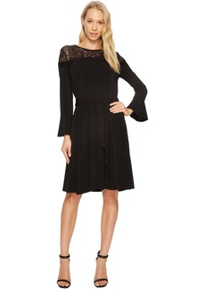 MICHAEL Michael Kors Flounce Sleeve Lace Combo Dress