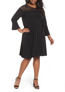 MICHAEL Michael Kors Flounce Sleeve Lace Dress (Plus Size)