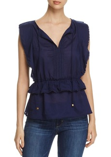 MICHAEL Michael Kors Flutter Peplum Top - 100% Exclusive