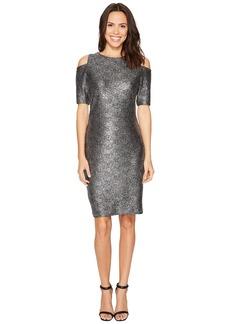 MICHAEL Michael Kors Foil Cold Shoulder Dress