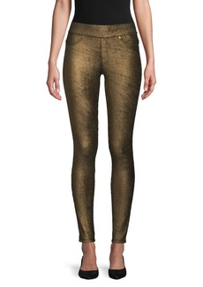 MICHAEL Michael Kors Foil Pull-On Cotton-Blend Leggings