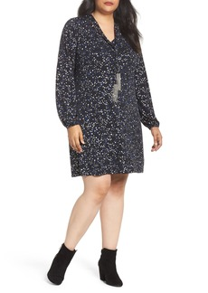 MICHAEL Michael Kors Foil Star A-Line Dress (Plus Size)