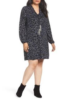 MICHAEL Michael Kors Foil Star A-Line Dress (Plus Size)