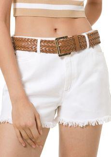 MICHAEL Michael Kors Frayed Cutoff Jean Shorts in White