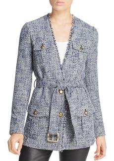 MICHAEL Michael Kors Frayed Tweed Jacket
